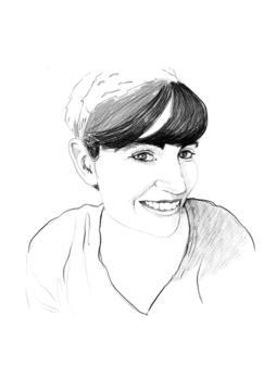 Maite Garbayo. Drawing: Josunene