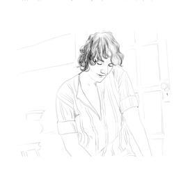 Lucy R. Lippard. Drawing: Josunene