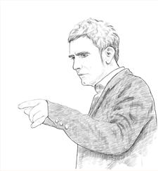 Retrato de Martí Manen. Hecho por Josunene (Josune Urrutia)